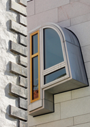 Some detail of Queensbury House - ScottishParliament